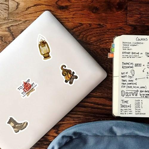 트래블 캠핑 노트북 여행가방 데코스티커 - 감성캠핑D - 50매
