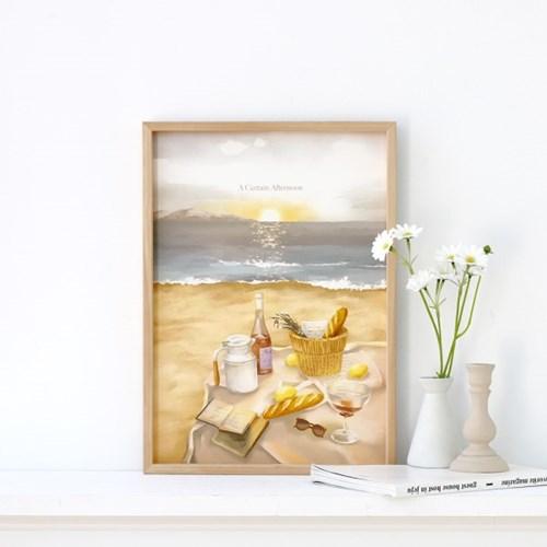 [A3 포스터, 캔버스액자] 해변의 피크닉