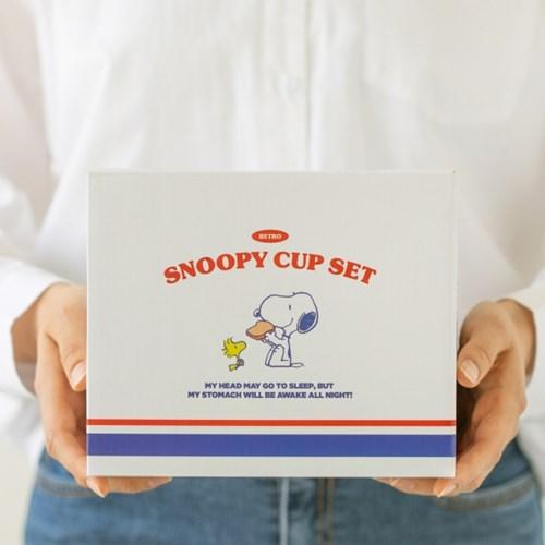 [Peanuts] 스누피 레트로 컵세트(2인조)