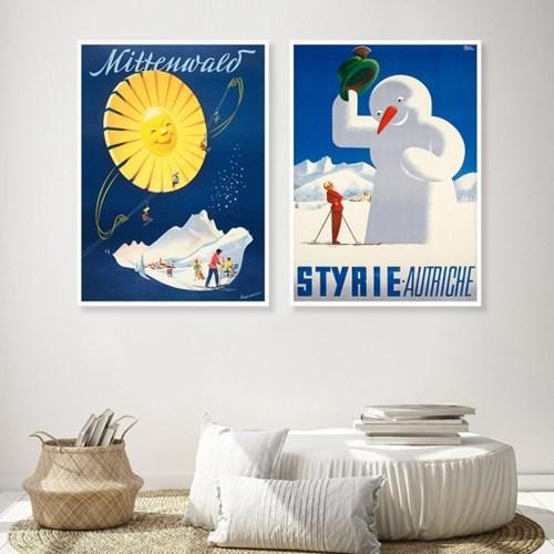 크리스마스 겨울 포스터 5종 세서미프린츠