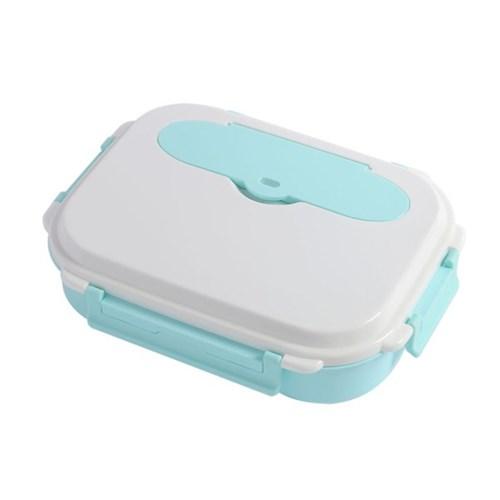 [리빙그로]쿠킹락 수저통 식판도시락(4구) (스카이)