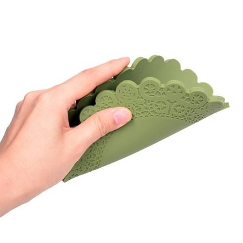 국산 플라이토 실리콘 레이스 냄비받침
