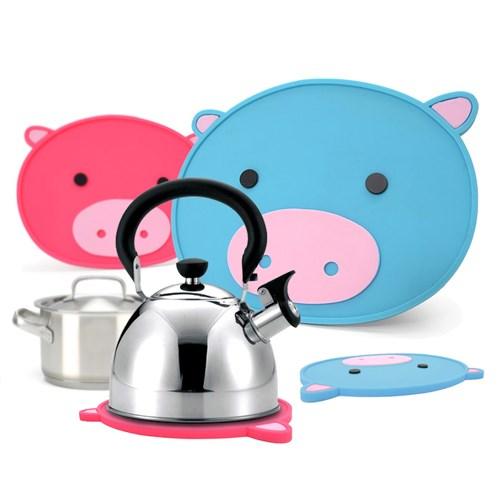 국산 플라이토 실리콘 돼지 냄비받침