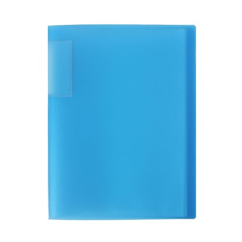 A4 인덱스 클리어파일(블루) (20매) / 서류화일