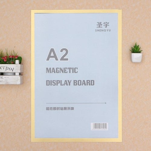 A2 초간단 자석프레임 광고 알림판(44x64cm) (골드)