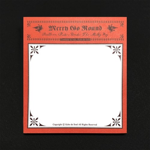 Merry Go Round - Memo Pad (4type)