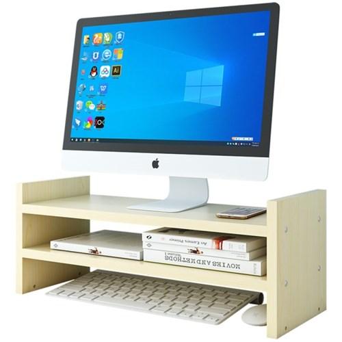 PH DIY 목재 컴퓨터 모니터 받침대 조립 선반