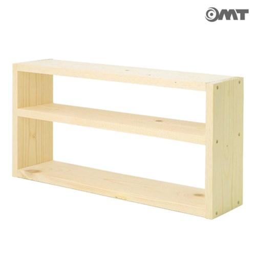 OMT 벽걸이 원목 3단 인테리어 선반 틈새 공간활용 스탠
