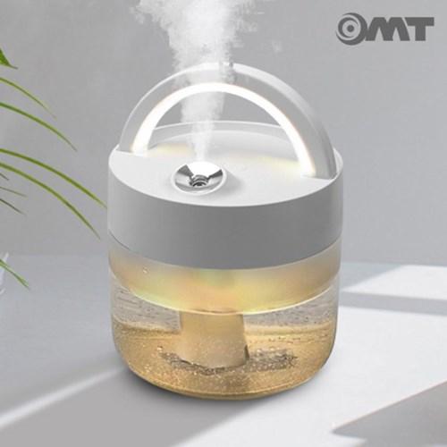 OMT LED무드등 무선 가습기 1000ml대용량 최대8시간 손잡이내장