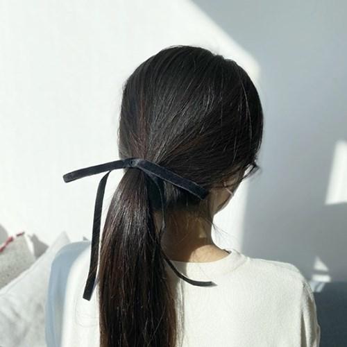 [드앙땅] 벨벳 리본 머리끈/ 제니 헤어끈/ 벨벳 롱 리본 머리끈