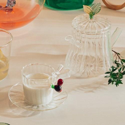 이태리 이첸도르프 그린우드 커피컵앤소서 레드베리_(1832149)