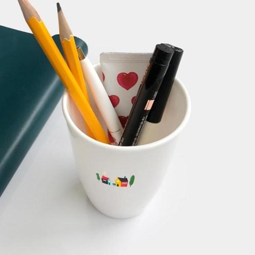원형 양치컵 유치원 학교 사무실 요양원