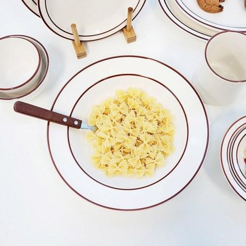 브라운 빈티지 접시(중)