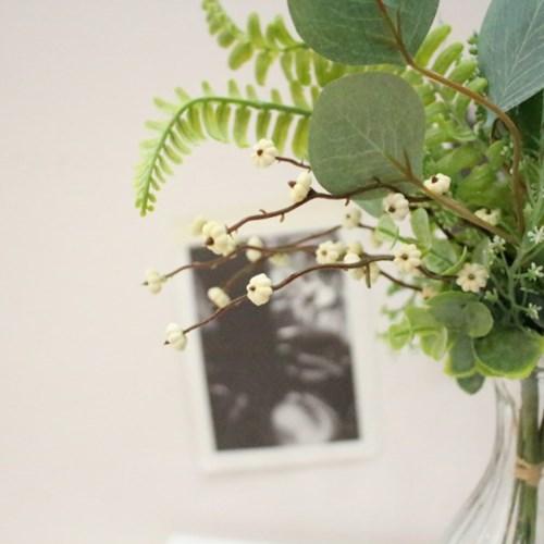 고급스러운 조화믹스 그린잎 번들장식