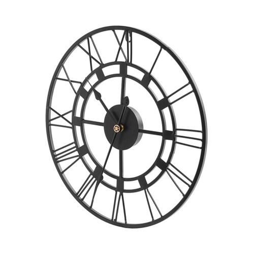엔틱 로마숫자 무소음벽시계 / 인테리어 철제벽시계