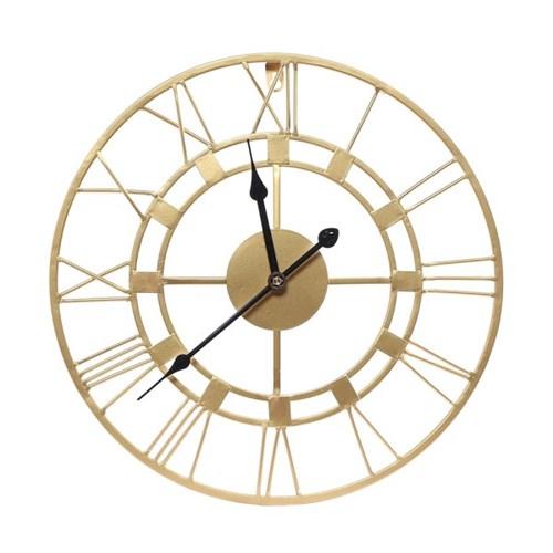 엔틱 로마숫자 무소음 벽시계 / 원형 인테리어벽시계