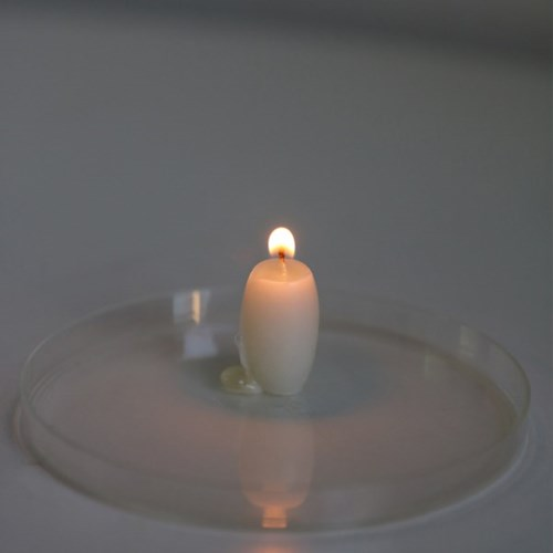 wax tablet & candle _ 뜰보리수