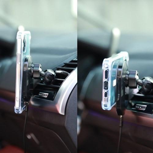 스키누 맥세이프 차량용 무선 충전기 (케이스 세트상품)