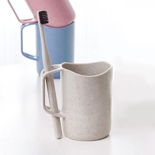 심플 칫솔걸이 양치컵(아이보리)/ 개인 칫솔컵
