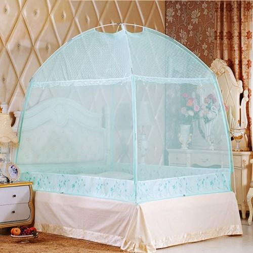 유니룸 돔형 사각 모기장(스카이) / 4인용 침대모기장