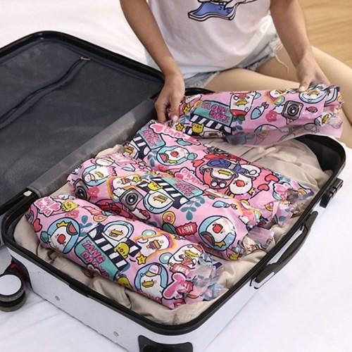 러버덕 휴대용 여행용 의류 이불 쿠션 진공팩 압축팩 4종 세트