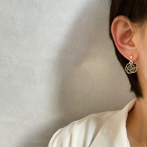 (제작) 클래식 진주여인 플라워 귀걸이 은침