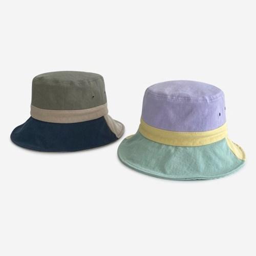 캠핑 코튼 삼색 벙거지 버킷햇 모자