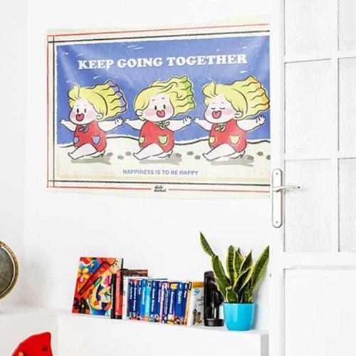 대형 패브릭 포스터 카페 홈 작업실 인테리어용 커버 덮개