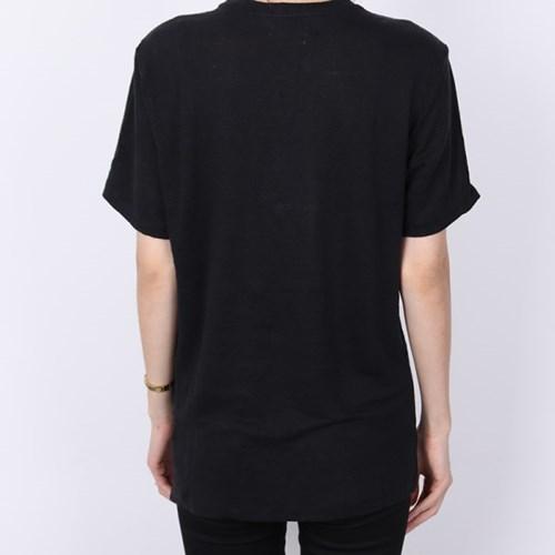 21FW 이자벨마랑 에뚜왈 ZEWEL 로고 티셔츠 (블랙) TS0406 00M008E 0