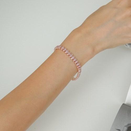 큐빅 심플 민트 핑크 B1039 패션 팔찌