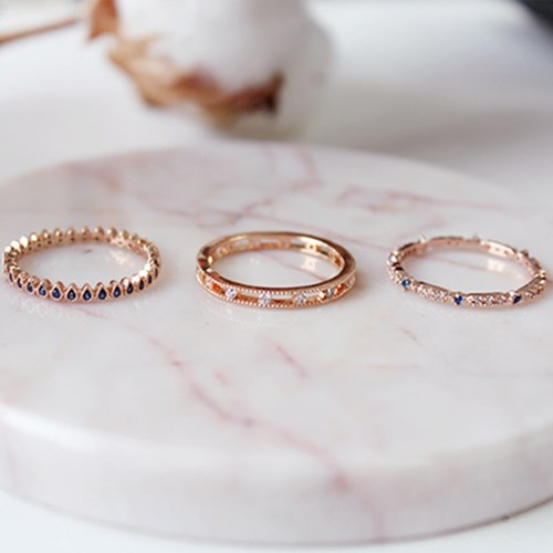 로즈 파티 반지(3types)rose party ring