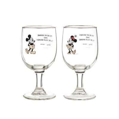 [Disney]Mickey&Minnie_White gold glass