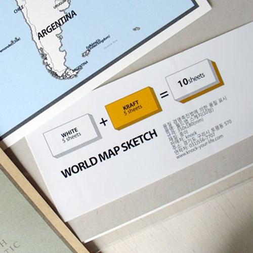 World Map sketch