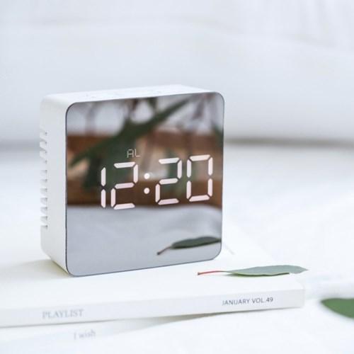 [mooas] 무아스 미러클락 - Mirror Clock / 거울 + LED 알람시계