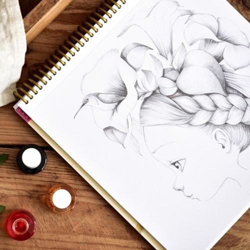 아브뉴만다린 와일드 컬러링북, 수채화 그림 그리기