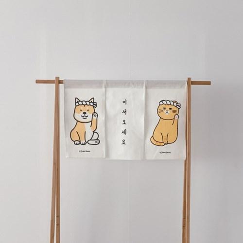 일본식 문가리개 커튼 미니노렌