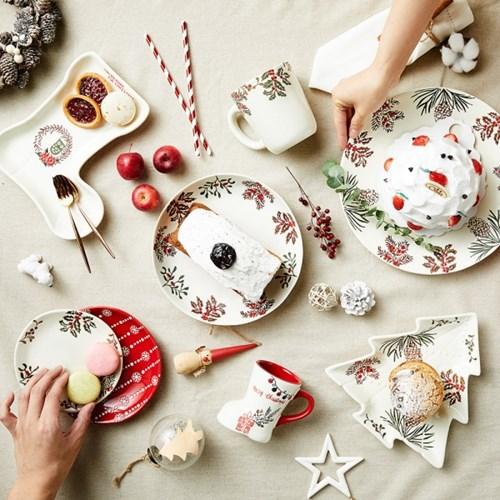크리스마스 파티 그릇/접시모음전