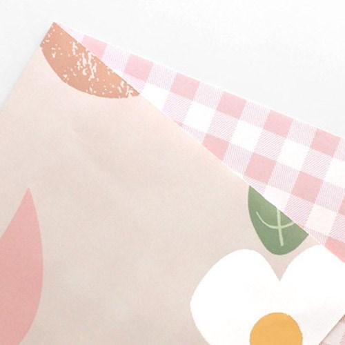 핑크체크 포장지(3개)