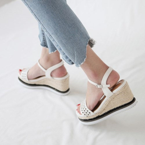 kami et muse Punching strap espadrille wedge sandals_KM19s186