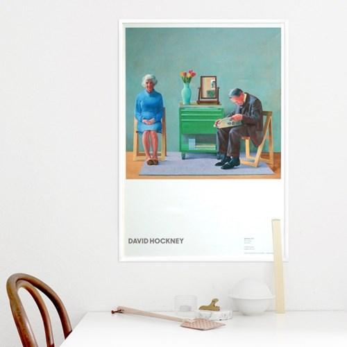 데이비드 호크니 인테리어 그림 액자 서울시립미술관 전시 포스터