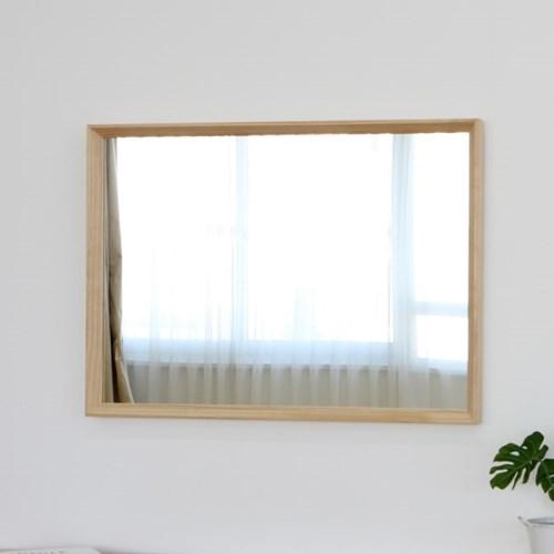 원목 사선프레임 벽거울