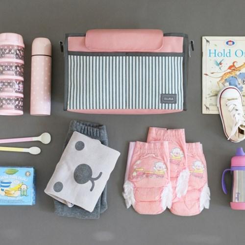 코니테일 유모차정리함 솔리드 - 인디블루 (기저귀가방)