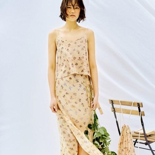 [Wrap Skirt] Berry - Beige