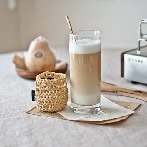 100% 핸드메이드 감성 니팅 글라스 세트 (컵+홀더세트/2color)