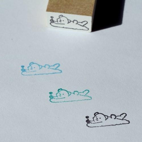 [노낫네버] 심심곰 우드 스탬프