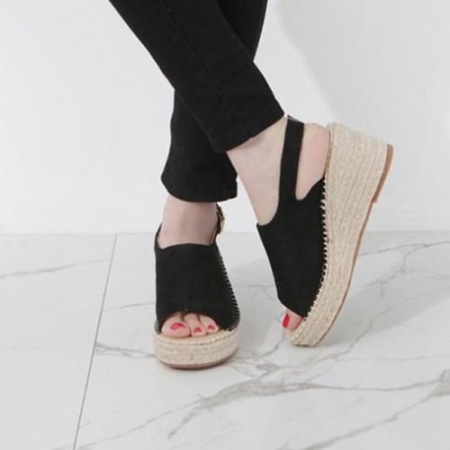kami et muse Suede espadrille wedge sandals_KM19s284