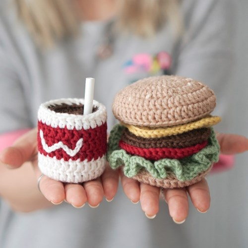 햄버거 세트 소꿉놀이 장난감 - 코바늘 키트