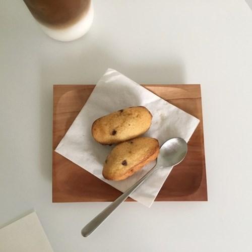 플랫우드플레이트 (미니접시, 커피찬받침)