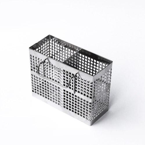 [아토소] 올 스텐 사각 원형 통 물빠짐 수저 꽂이 정리함