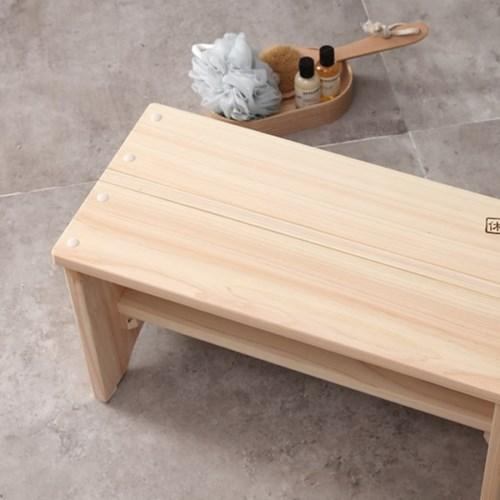 피톤치드 편백나무 목욕의자 2size